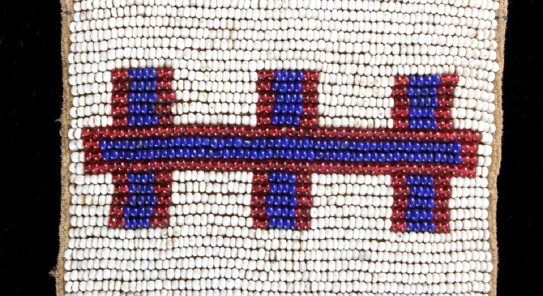 Sioux Native American Beaded Blanket Strip c.1890 - 3