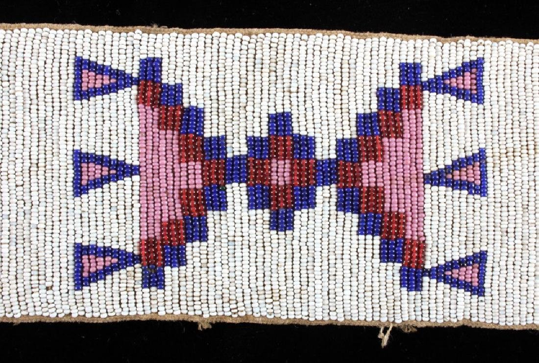 Sioux Native American Beaded Blanket Strip c.1890 - 7