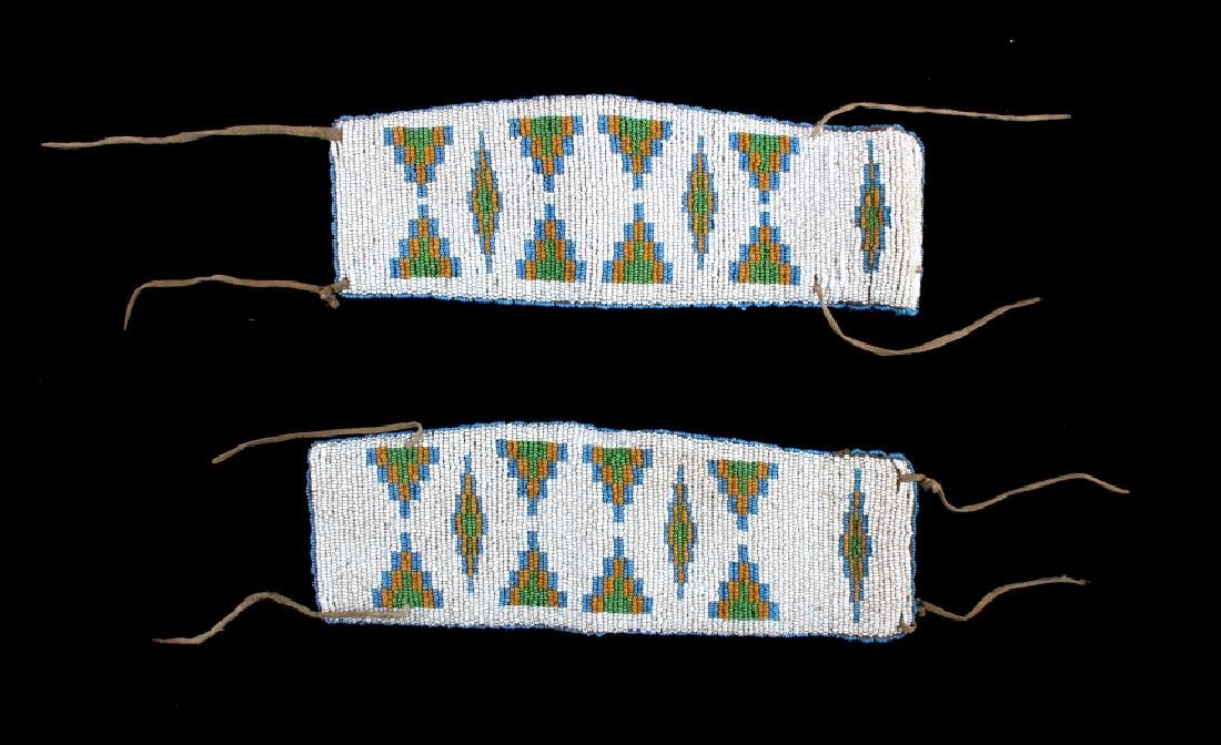 Sioux Native American Beaded Arm Bands c.1890