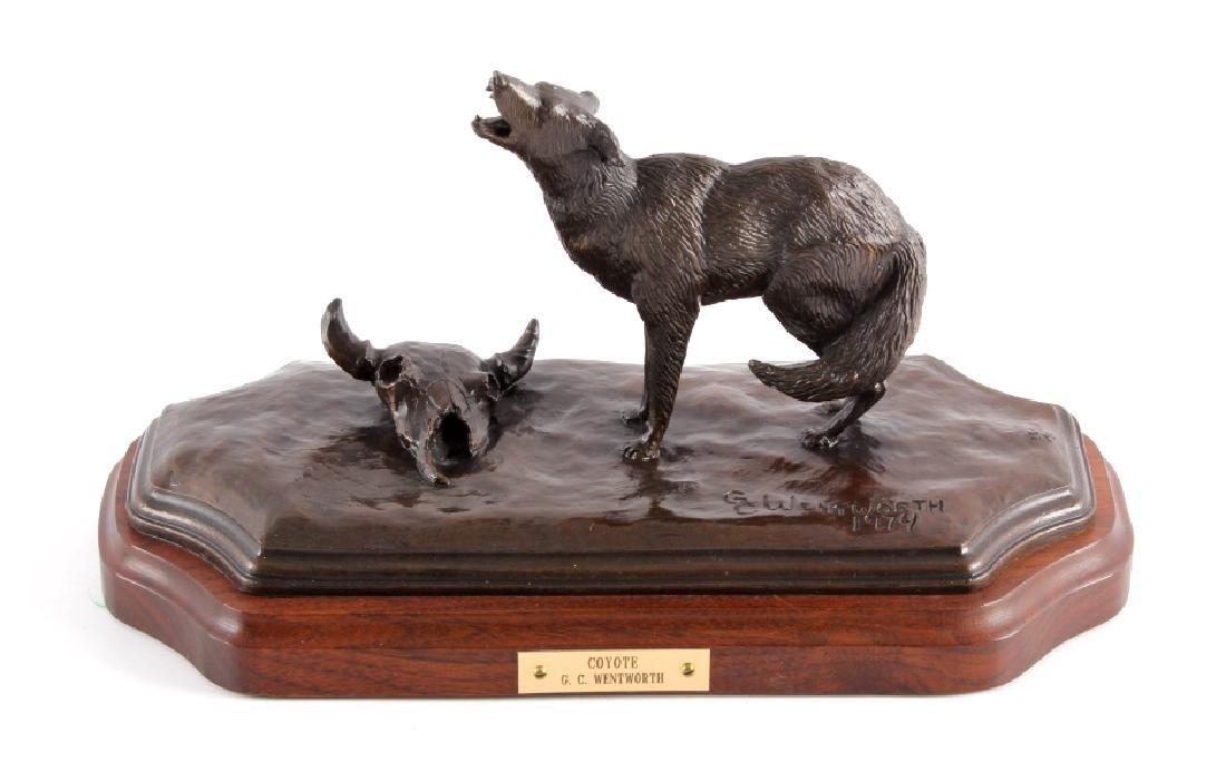 Original G.C. Wentworth Coyote Bronze Sculpture