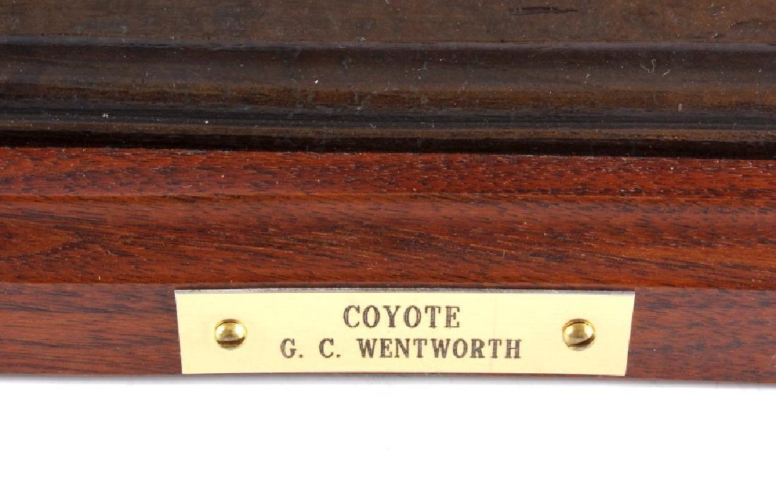 Original G.C. Wentworth Coyote Bronze Sculpture - 2