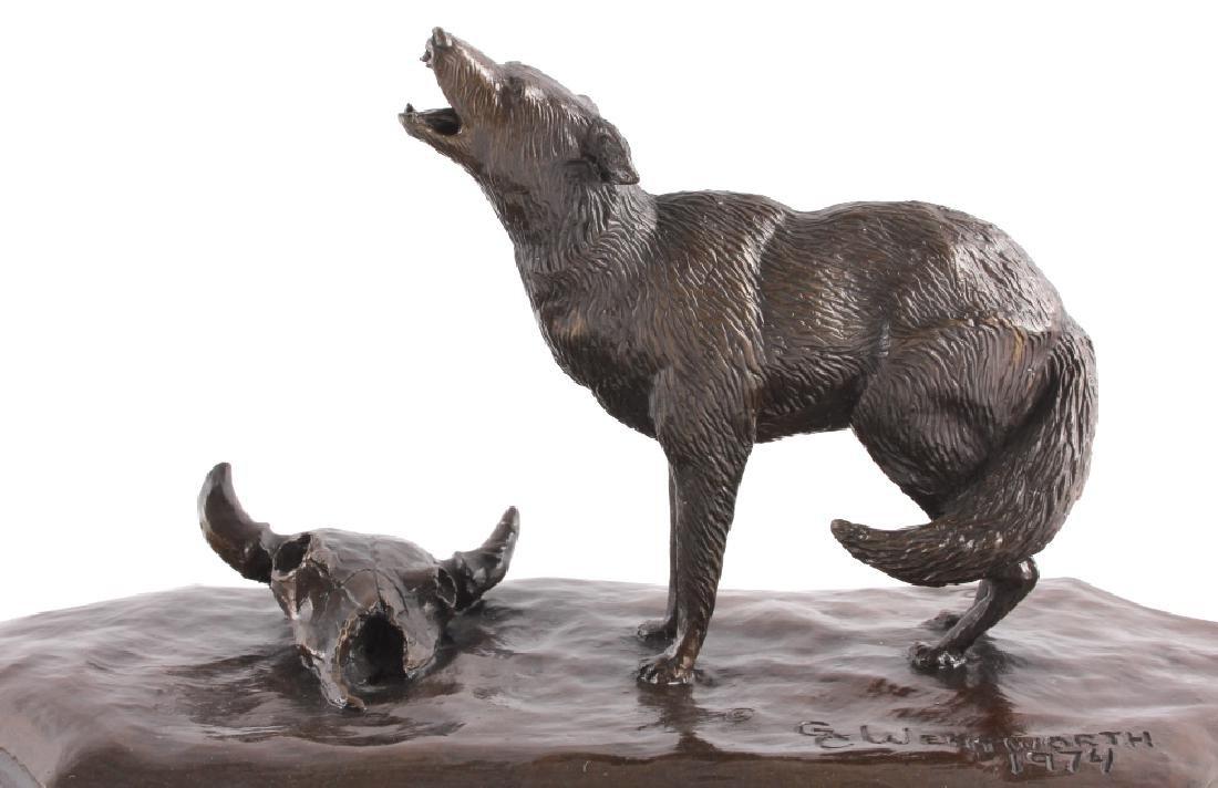 Original G.C. Wentworth Coyote Bronze Sculpture - 3