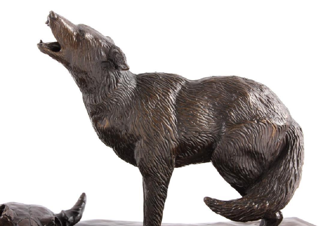 Original G.C. Wentworth Coyote Bronze Sculpture - 4