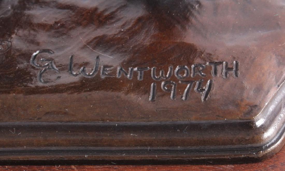 Original G.C. Wentworth Coyote Bronze Sculpture - 6