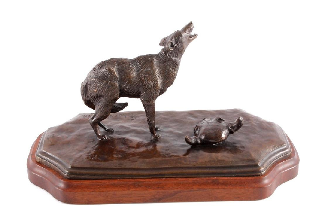 Original G.C. Wentworth Coyote Bronze Sculpture - 8