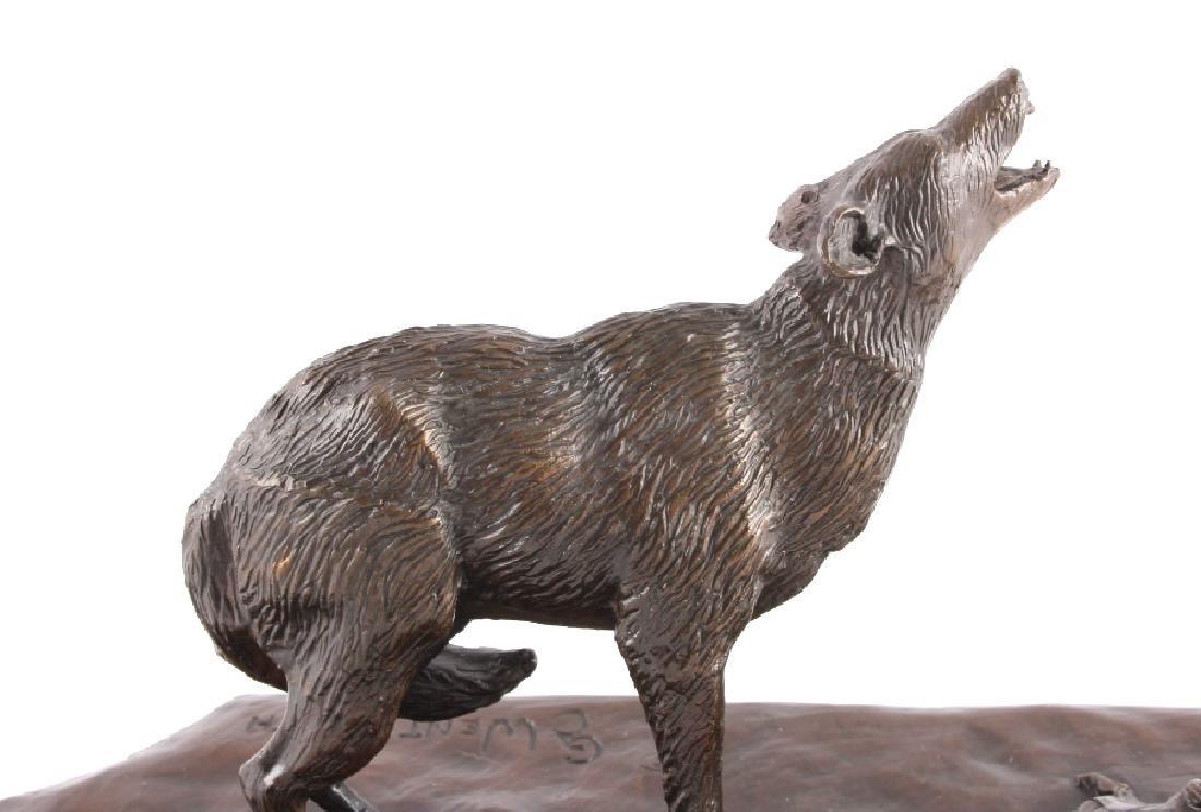 Original G.C. Wentworth Coyote Bronze Sculpture - 9