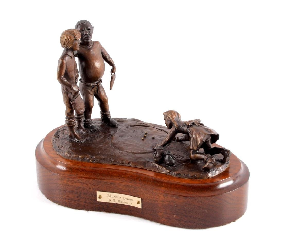 Original Wentworth Bronze Marble Game Sculpture
