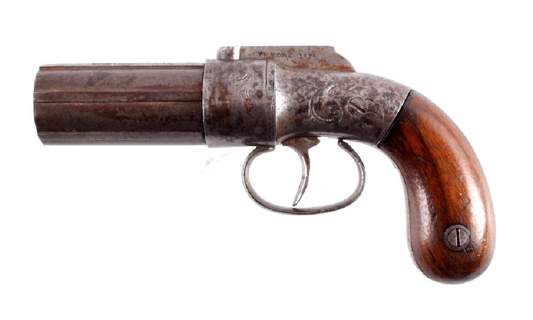 W.W. Marston & Knox .31 Pepperbox Engraved Pistol
