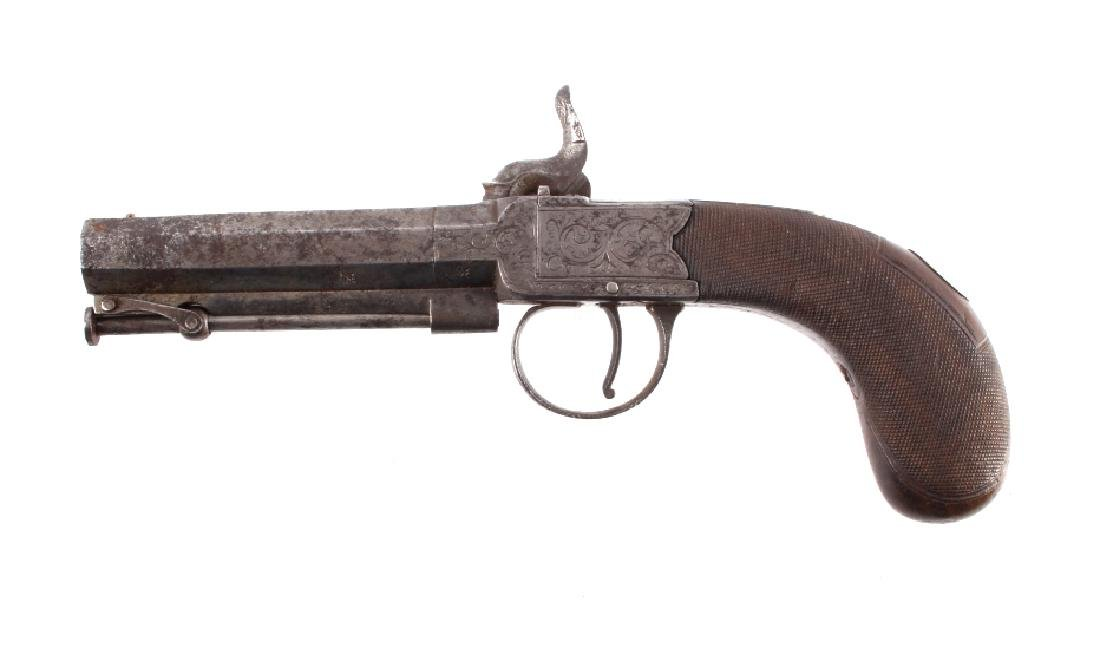 English Engraved .41 Percussion Pistol