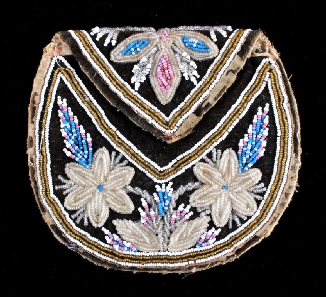 Seneca Floral Fully Beaded Bag circa 1830-1850