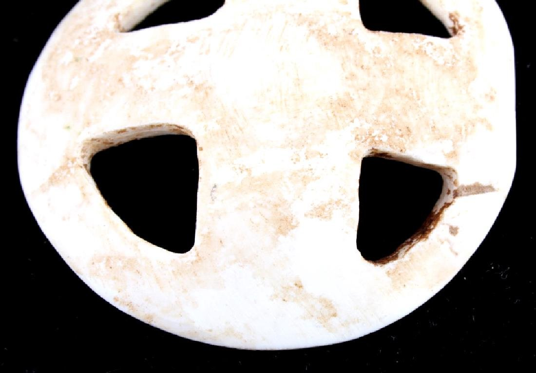 Early Fenestrated Carved Shell Gorget - 5