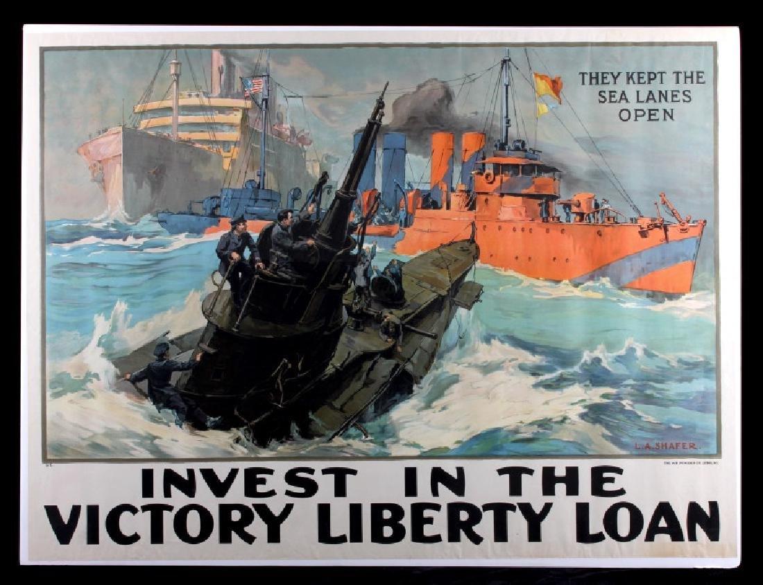 Original WWI Victory Liberty Loan War Bond Poster - 13