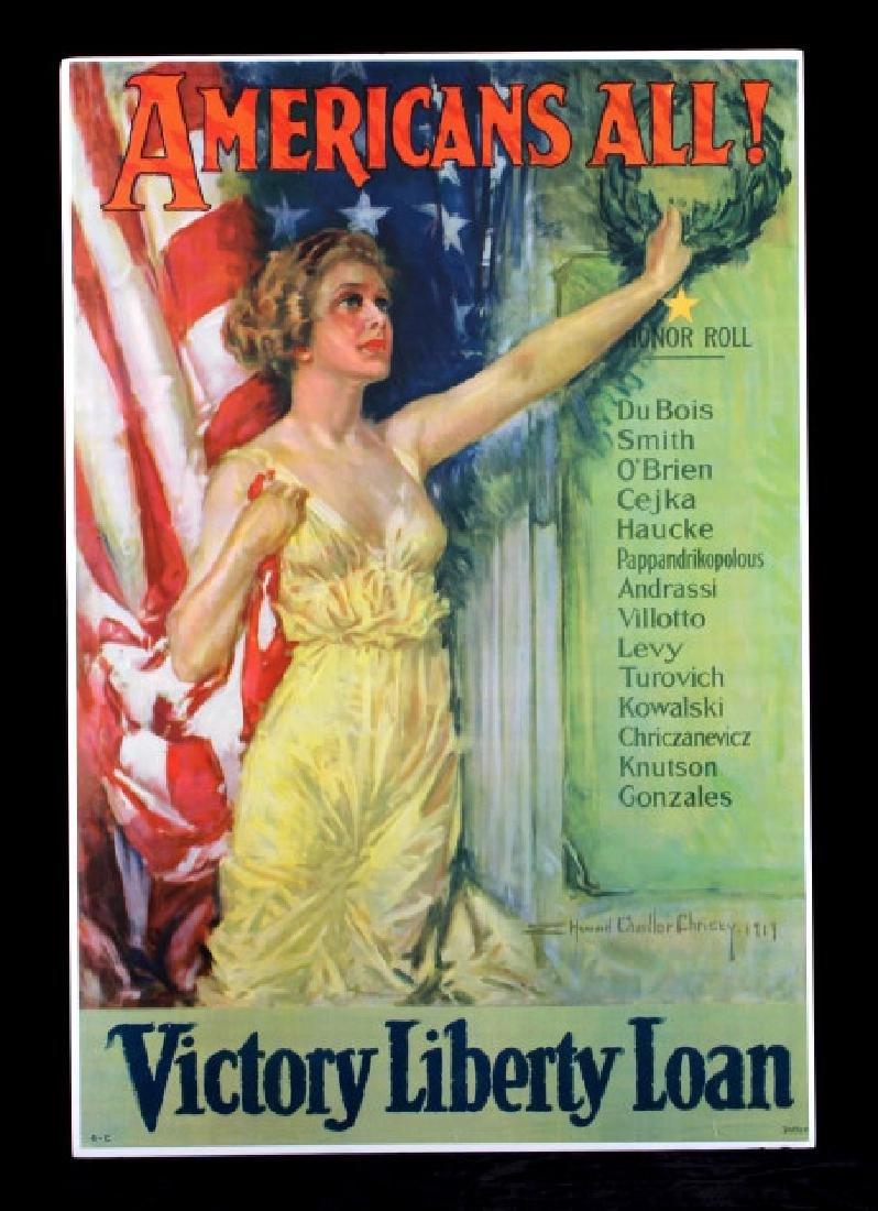 Original WWI Victory Liberty Loan War Bond Poster - 10