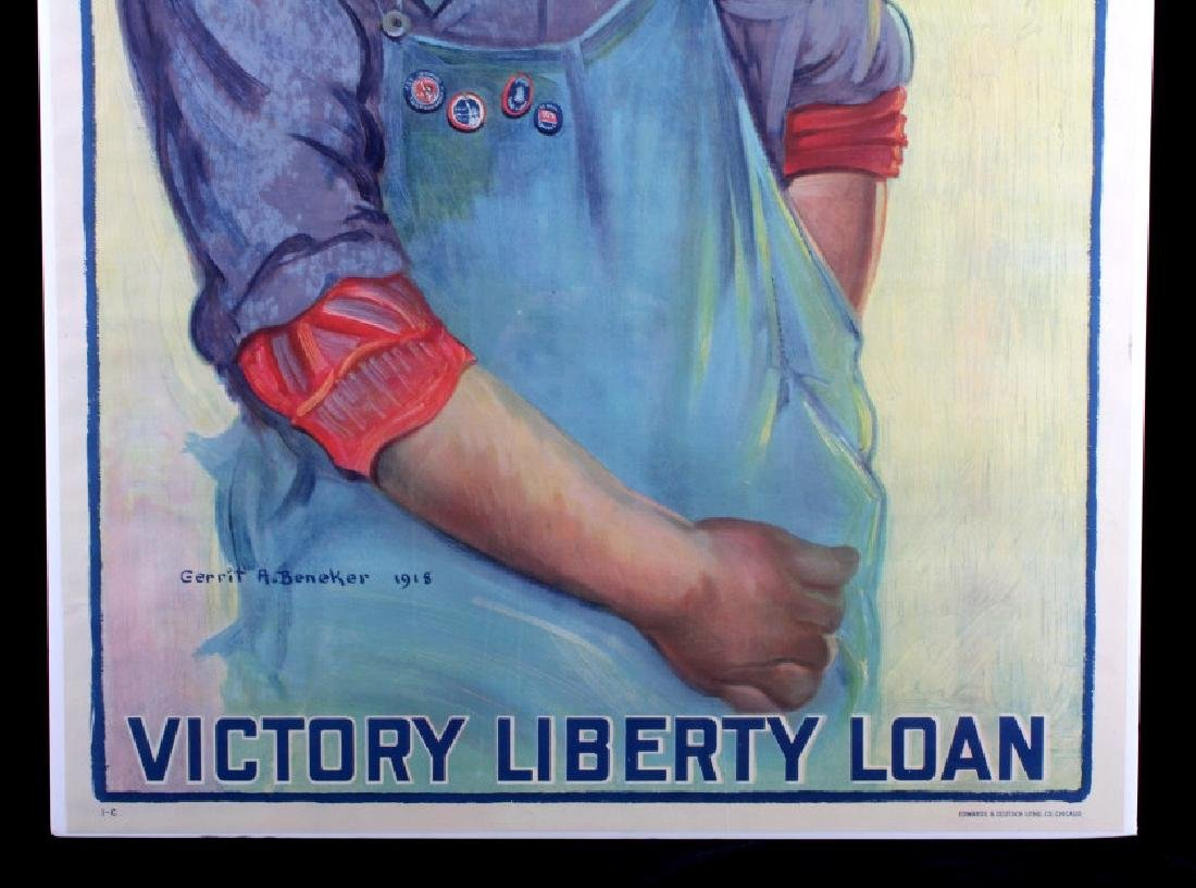 Original WWI Victory Liberty Loan Poster 1918 - 3