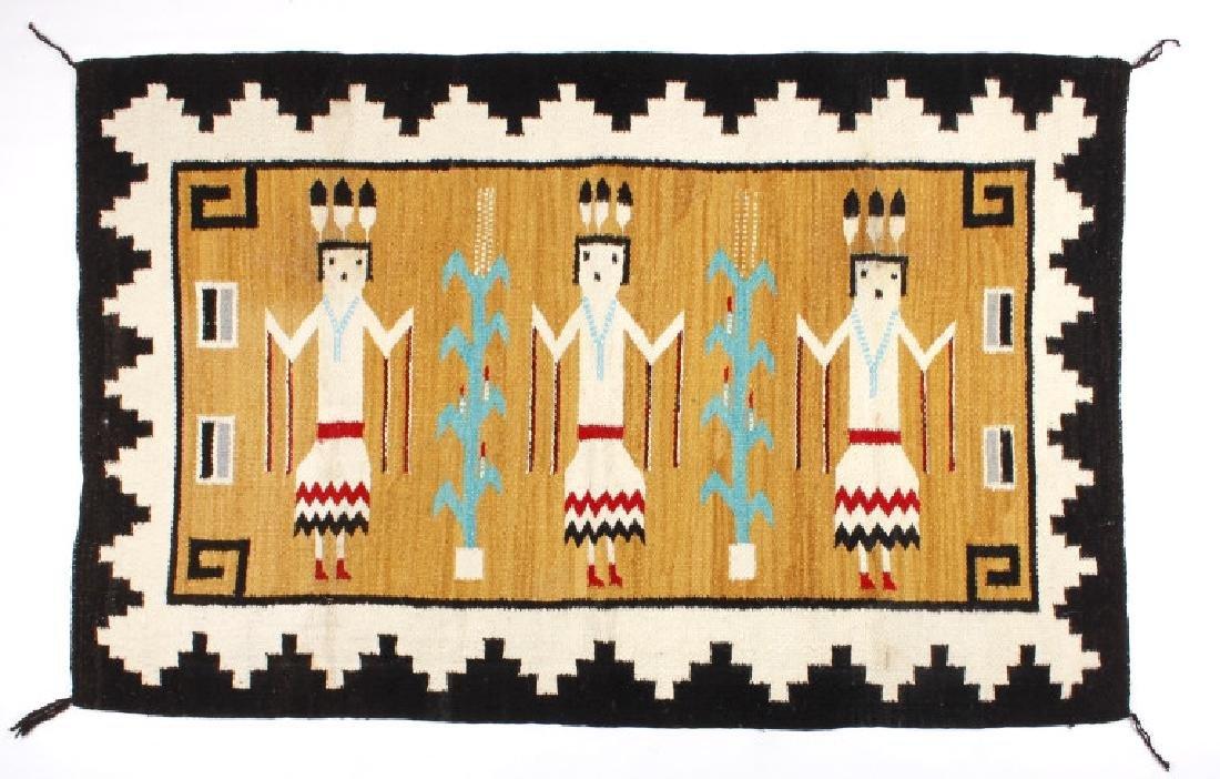 Fine Navajo Figural Yei Wool Rug