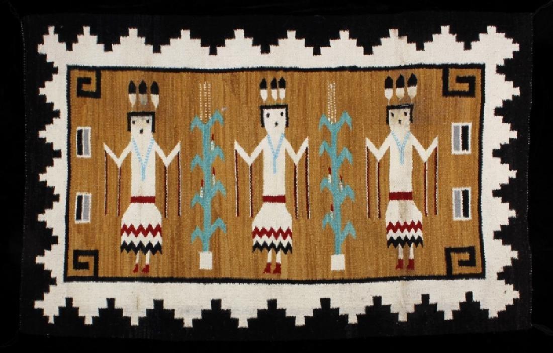 Fine Navajo Figural Yei Wool Rug - 2