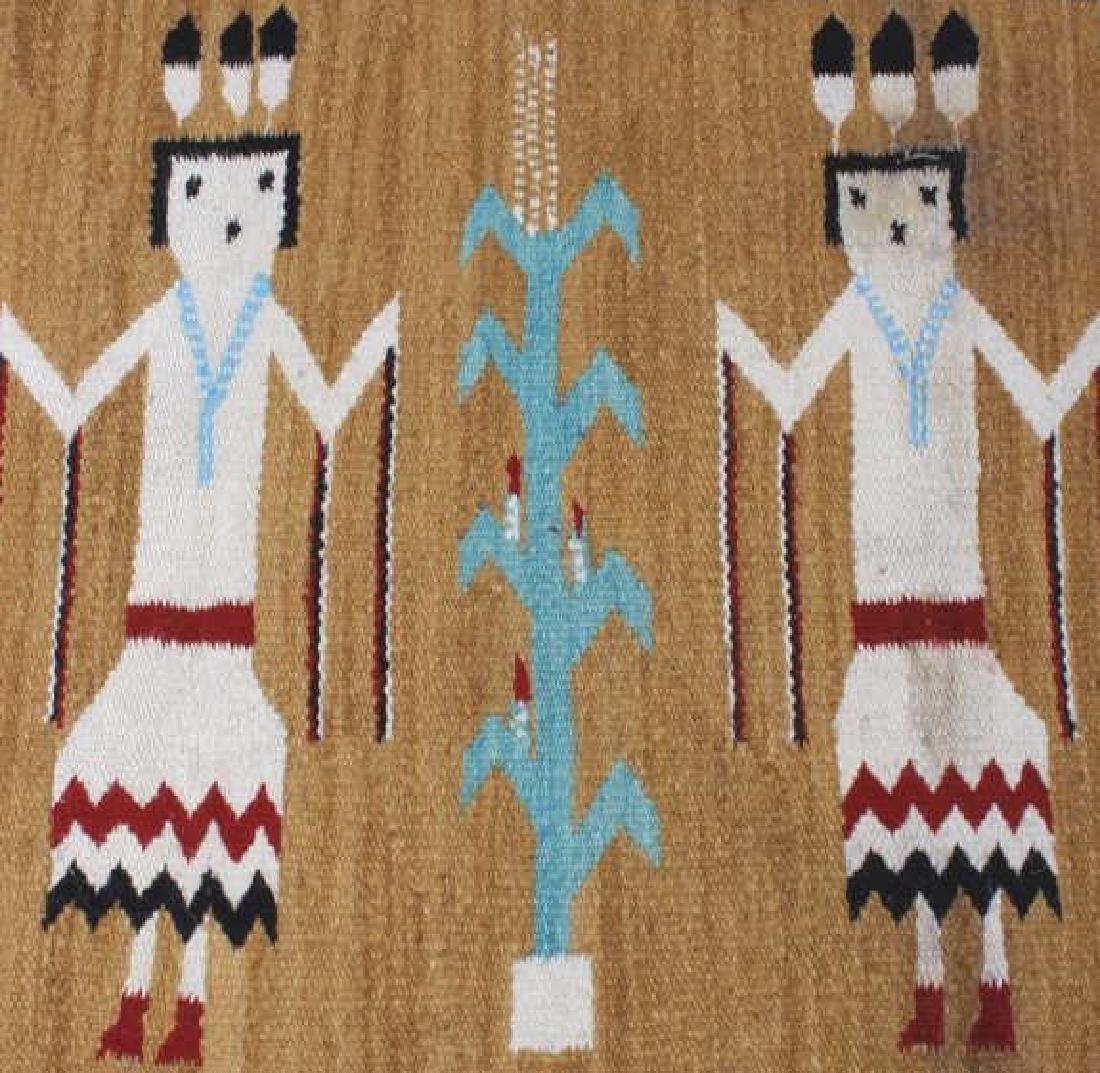 Fine Navajo Figural Yei Wool Rug - 4