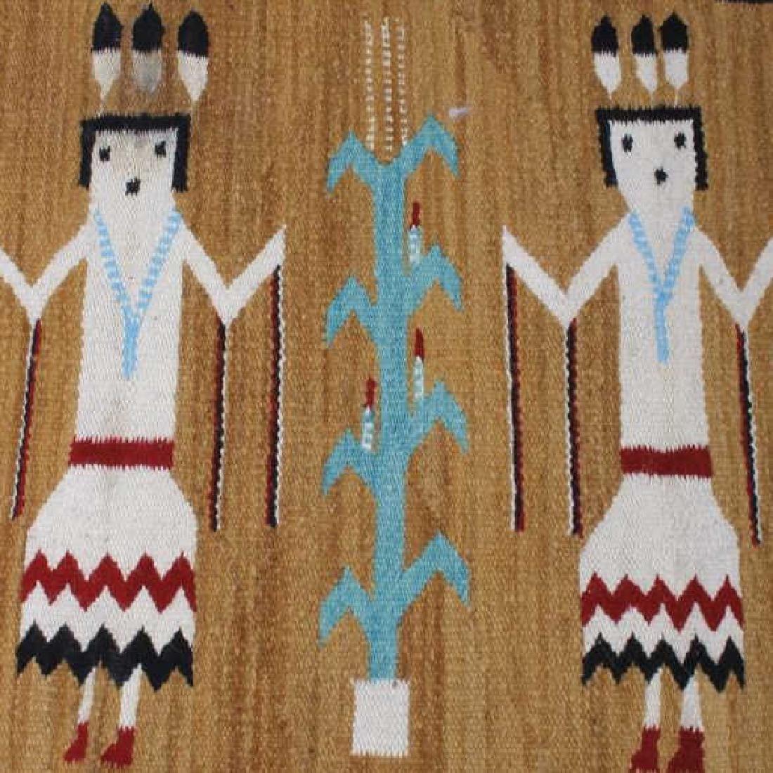 Fine Navajo Figural Yei Wool Rug - 5