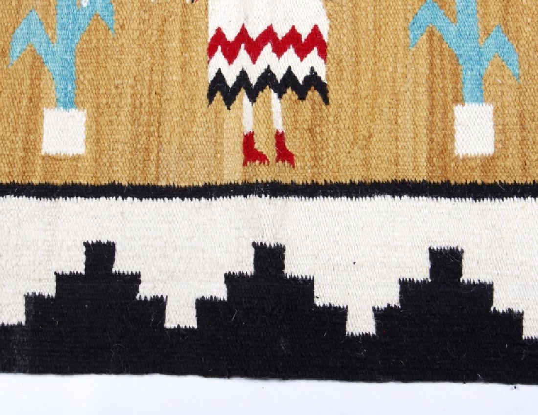 Fine Navajo Figural Yei Wool Rug - 6