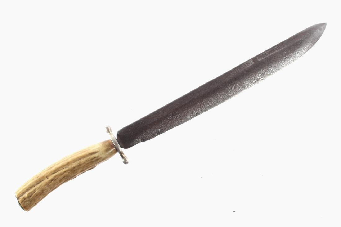 Frontiersman Stag & Silver Fighting Knife c. 1840