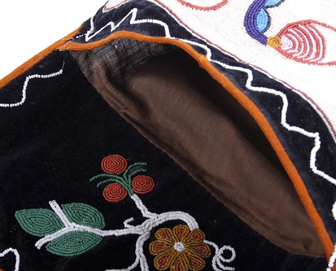 Chippewa Fully Beaded Bandolier Bag c. 1870 - 7