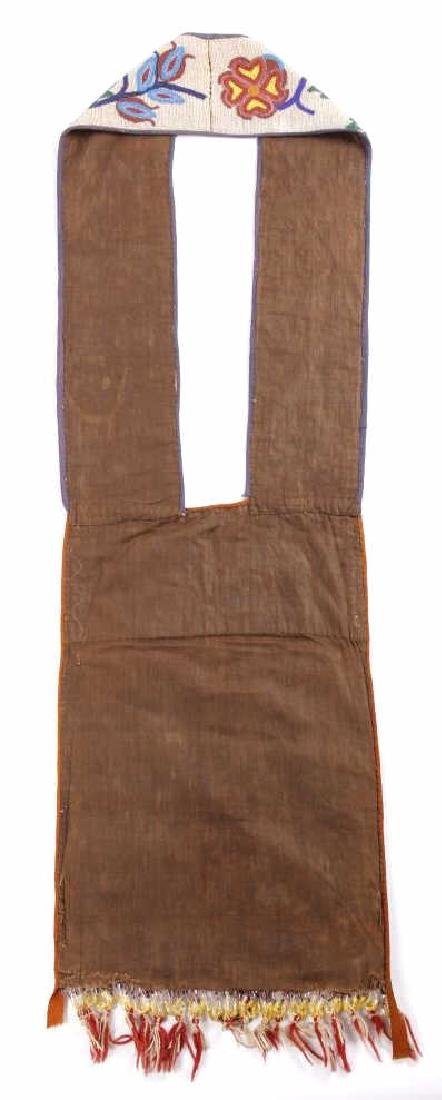 Chippewa Fully Beaded Bandolier Bag c. 1870 - 8