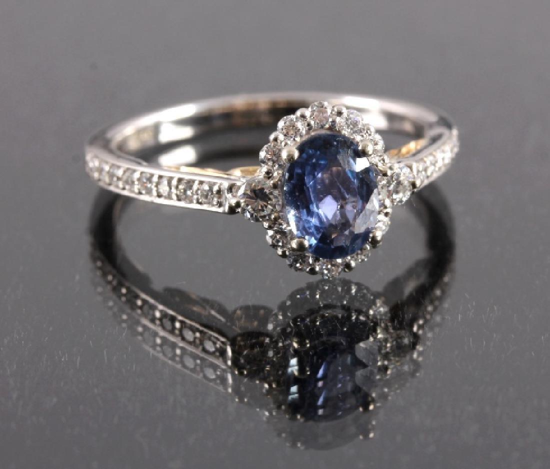 .88ct. Montana Yogo Sapphire 14K Gold Diamond Ring