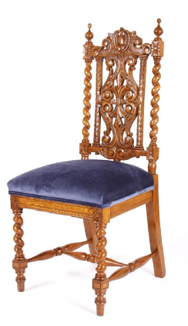 R.J. Horner & Co. Finely Carved Chairs c 1880-1890 - 10