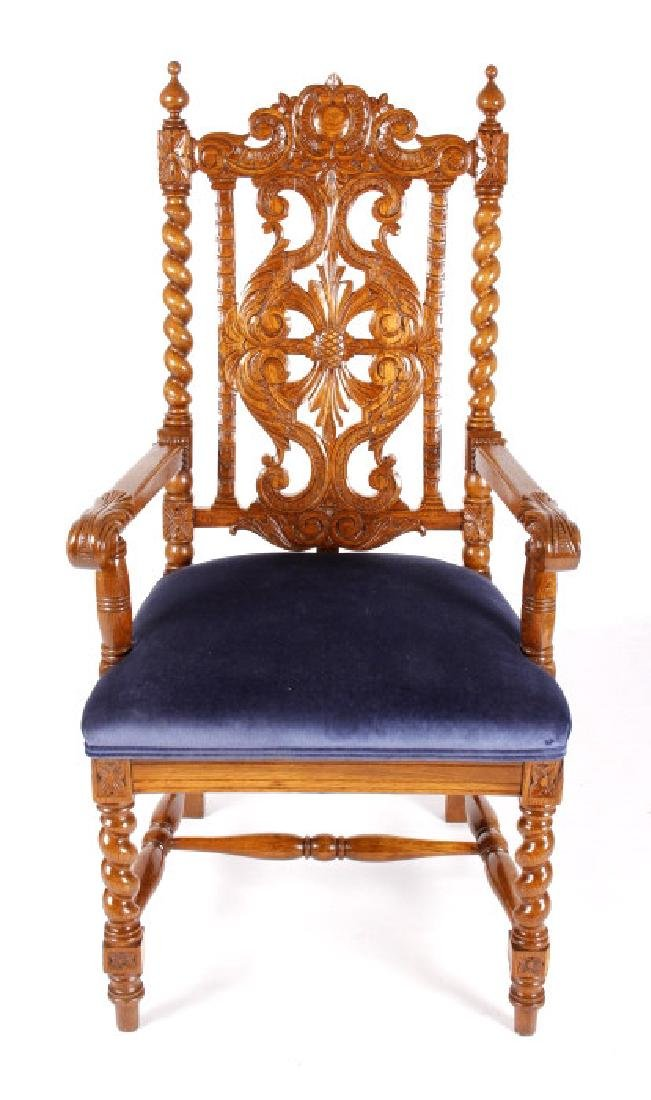 R.J. Horner & Co. Finely Carved Chairs c 1880-1890 - 2