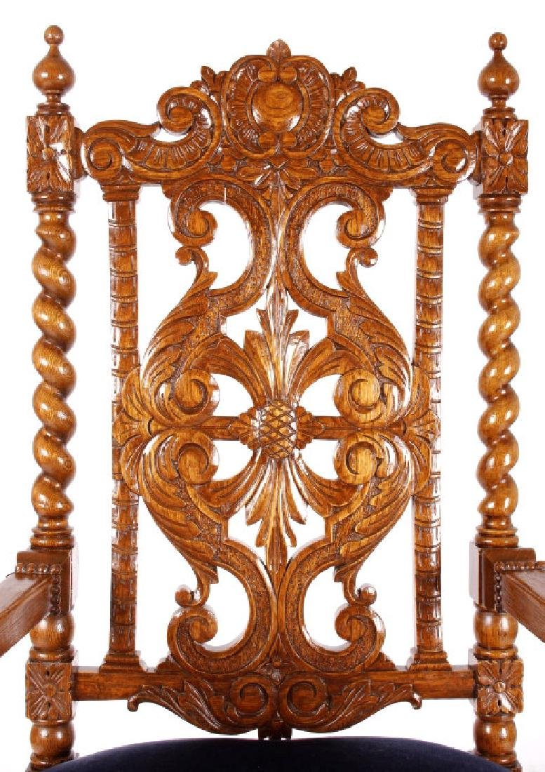 R.J. Horner & Co. Finely Carved Chairs c 1880-1890 - 3