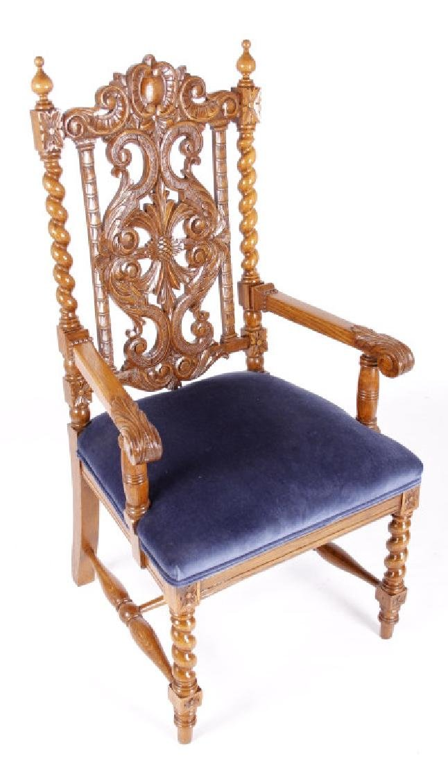 R.J. Horner & Co. Finely Carved Chairs c 1880-1890 - 6