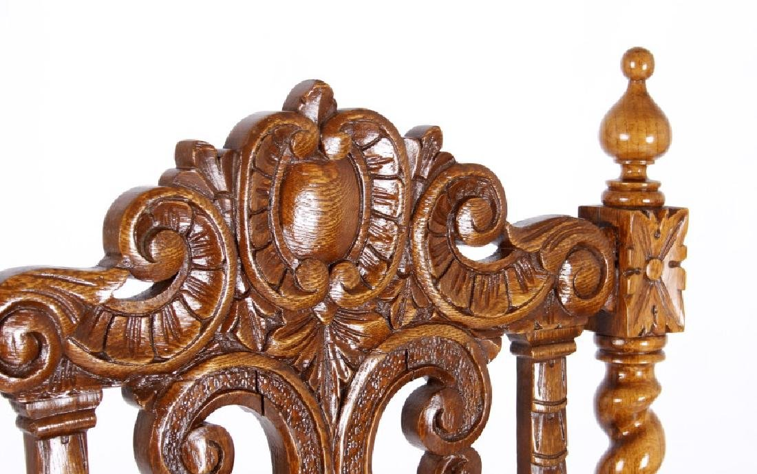 R.J. Horner & Co. Finely Carved Chairs c 1880-1890 - 7