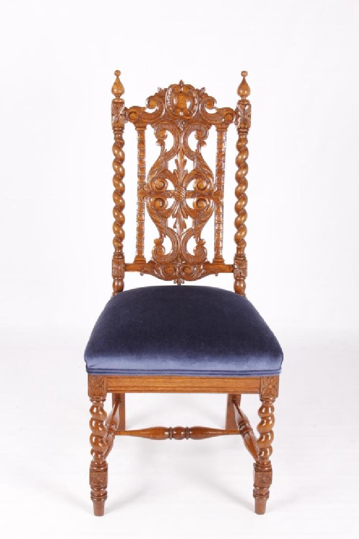 R.J. Horner & Co. Finely Carved Chairs c 1880-1890 - 8