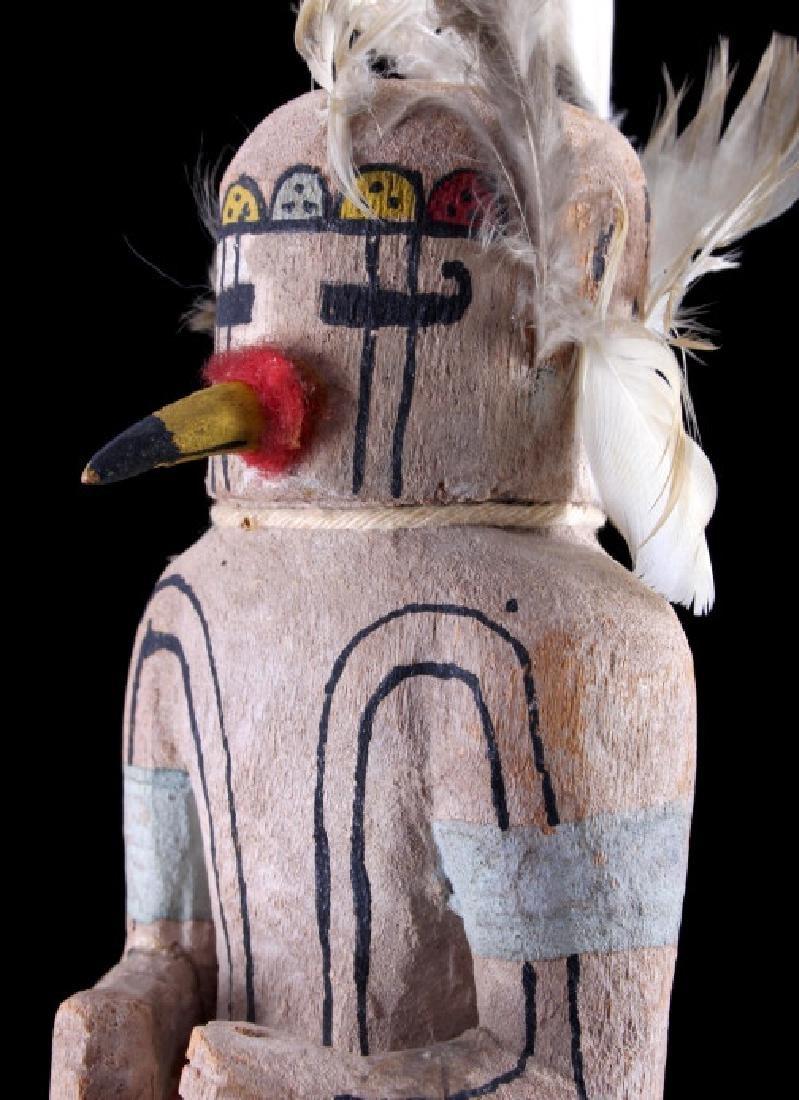 Hopi Prairie Falcon Polychrome Kachina c. 1890 - 8