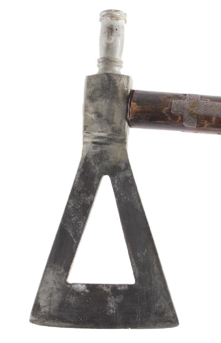 Blackfoot Pewter Inlaid Pipe Tomahawk c. 1880-1890 - 9