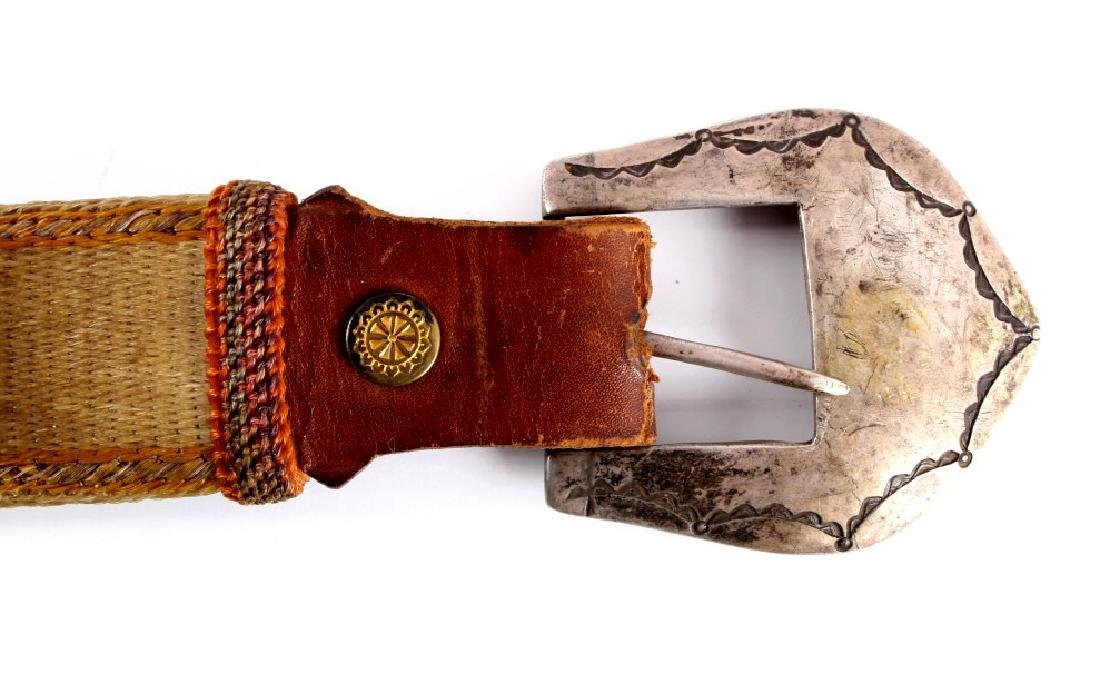Early Deer Lodge Prison Hitched Horsehair Belt - 2