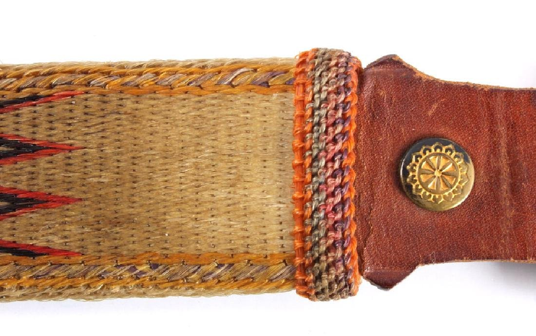 Early Deer Lodge Prison Hitched Horsehair Belt - 3