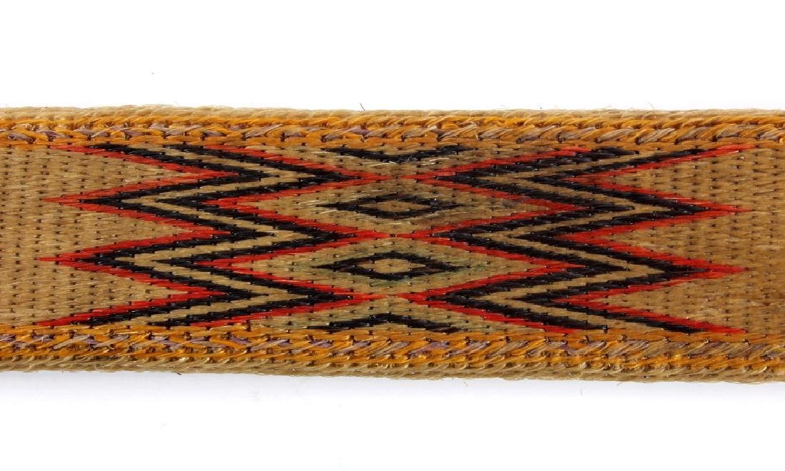 Early Deer Lodge Prison Hitched Horsehair Belt - 4