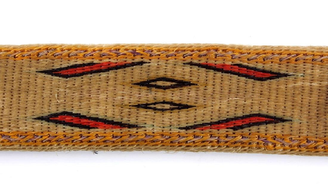 Early Deer Lodge Prison Hitched Horsehair Belt - 5