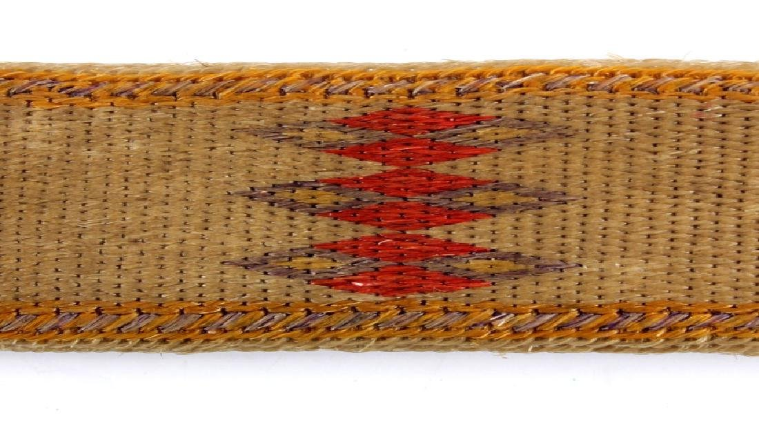 Early Deer Lodge Prison Hitched Horsehair Belt - 6