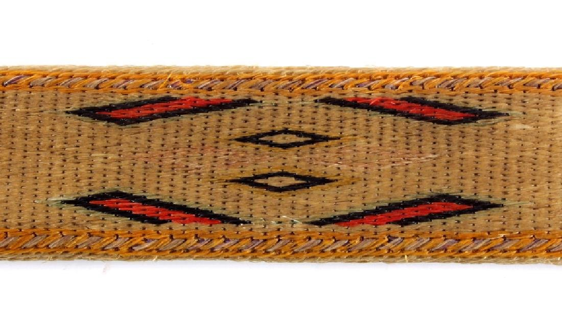 Early Deer Lodge Prison Hitched Horsehair Belt - 7