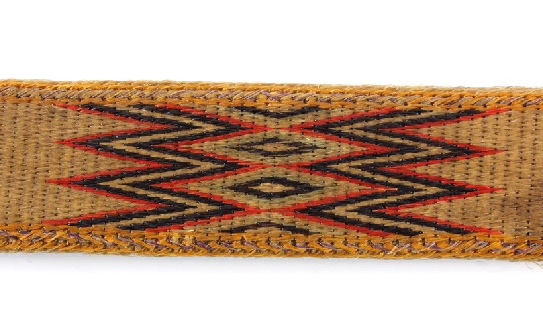 Early Deer Lodge Prison Hitched Horsehair Belt - 8
