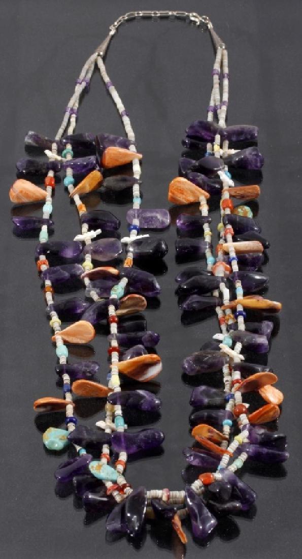 Navajo MultiStone MultiStrand Fetish Gem Necklace