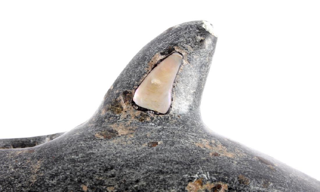Chumash Indian Steatite Killer Whale Effigy Pipe - 7