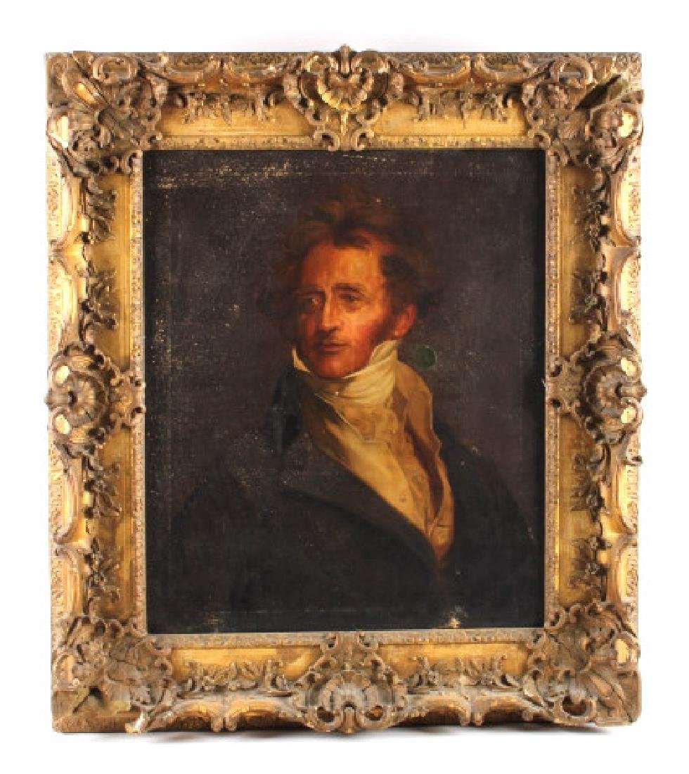Antique Framed Dignitary Portrait Oil Painting