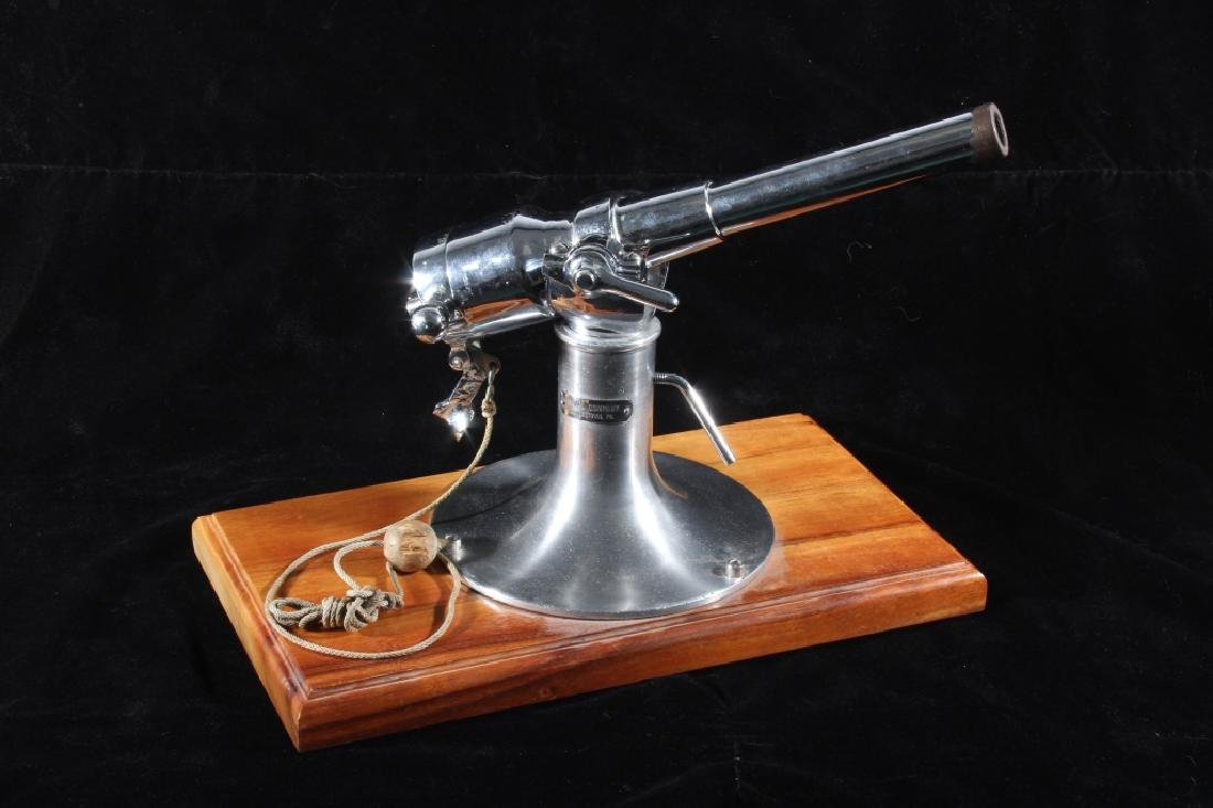 U.S Naval Co. 10G Chrome Bronze Signal Cannon