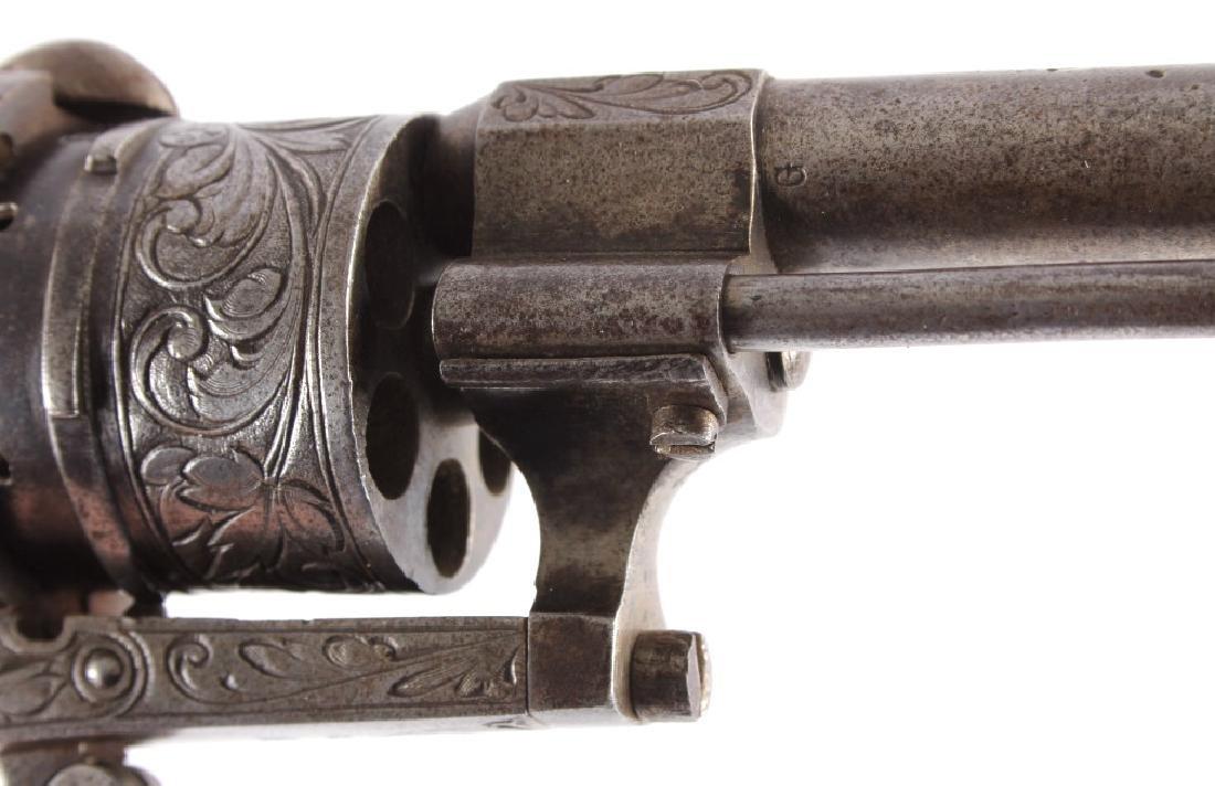 Engraved Belgian Pinfire 7mm Revolver - 10