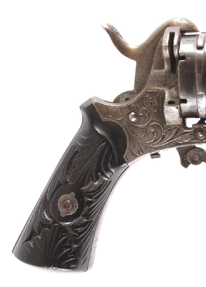 Engraved Belgian Pinfire 7mm Revolver - 12