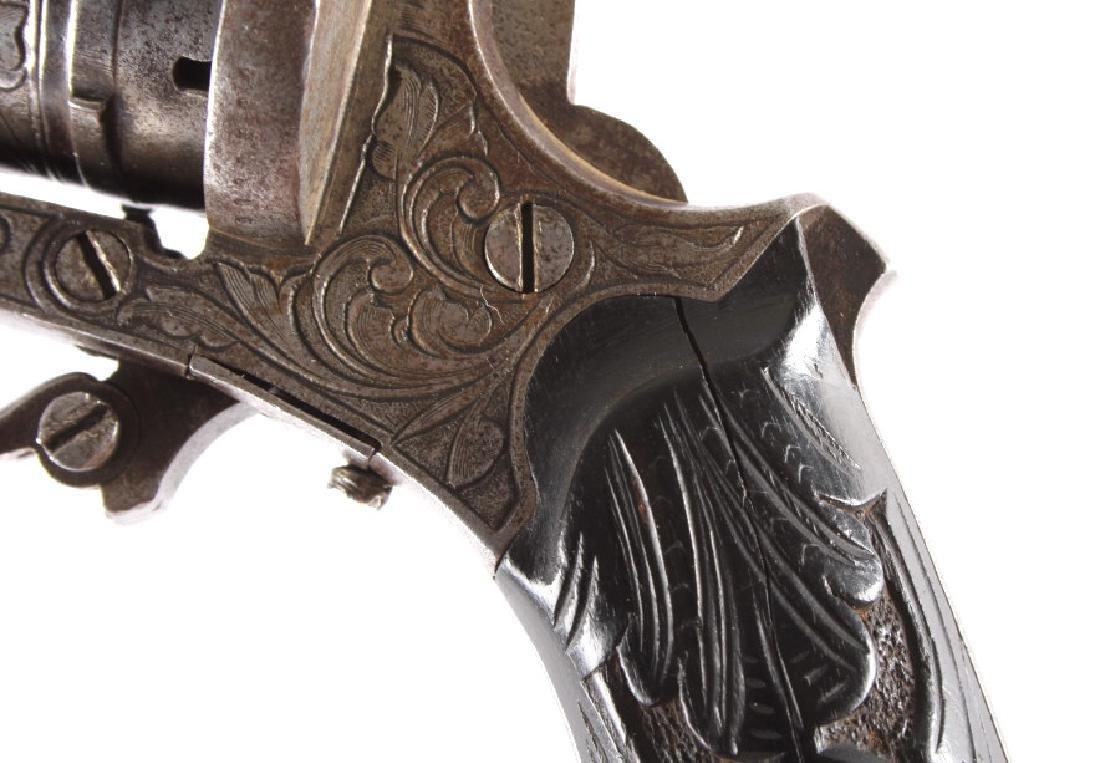 Engraved Belgian Pinfire 7mm Revolver - 15