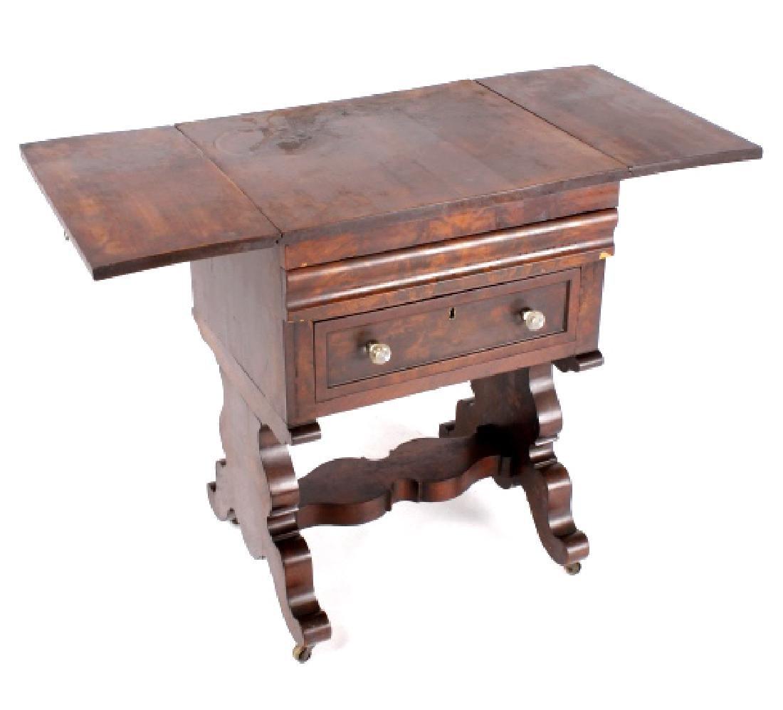 Empire Drop-Leaf Secretary Pen Table c. 1840